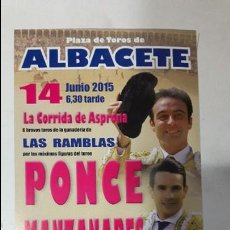 Carteles Toros: CARTEL TOROS ALBACETE CORRIDA ASPRONA. Lote 82017212