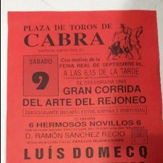 Carteles Toros: CARTEL TOROS CABRA. Lote 71805403