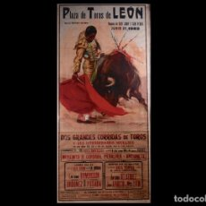 Carteles Toros: ANTIGUO CARTEL PLAZA DE TOROS DE LEÓN 1952. Lote 71917879