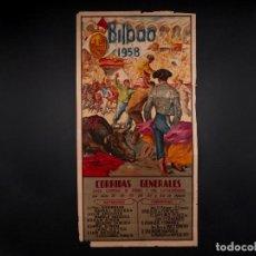 Carteles Toros: CARTEL PLAZA DE TOROS DE BILBAO 1958. Lote 72008987