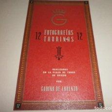 Carteles Toros: COLECCION DE 12 FOTOGRAFIAS TAURINAS ARTISTICAS PLAZA DE TOROS DE OVIEDO POR GABINO LORENZO. Lote 72235115