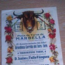 Carteles Toros: PLAZA DE TOROS DE MARBELLA. DOMINGO 25 DE JULIO DE 1976. Lote 72777331