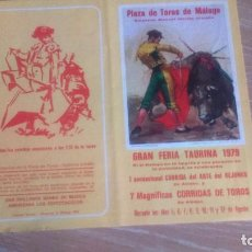 Carteles Toros: PLAZA DE TOROS DE MALAGA. GRAN FERIA TAURINA 1979.. Lote 72778959