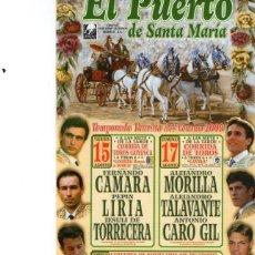 Carteles Toros: CARTEL TOROS PUERTO SANTA MARIA. Lote 73660343