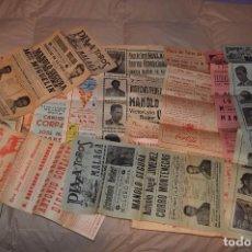 Carteles Toros: GRAN LOTE DE CARTELES DE TOROS - MÁLAGA 1958 - IMPRESIONANTE - MIRA LAS FOTOS. Lote 75256499