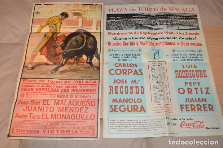 Carteles Toros: GRAN LOTE DE CARTELES DE TOROS - MÁLAGA 1958 - IMPRESIONANTE - MIRA LAS FOTOS - Foto 2 - 75256499