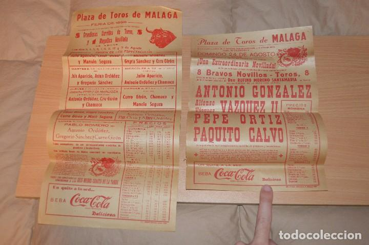 Carteles Toros: GRAN LOTE DE CARTELES DE TOROS - MÁLAGA 1958 - IMPRESIONANTE - MIRA LAS FOTOS - Foto 4 - 75256499