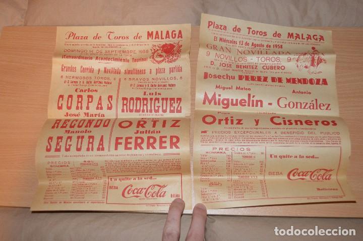 Carteles Toros: GRAN LOTE DE CARTELES DE TOROS - MÁLAGA 1958 - IMPRESIONANTE - MIRA LAS FOTOS - Foto 5 - 75256499