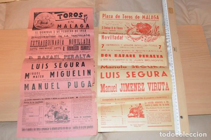 Carteles Toros: GRAN LOTE DE CARTELES DE TOROS - MÁLAGA 1958 - IMPRESIONANTE - MIRA LAS FOTOS - Foto 6 - 75256499