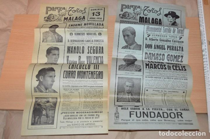 Carteles Toros: GRAN LOTE DE CARTELES DE TOROS - MÁLAGA 1958 - IMPRESIONANTE - MIRA LAS FOTOS - Foto 8 - 75256499