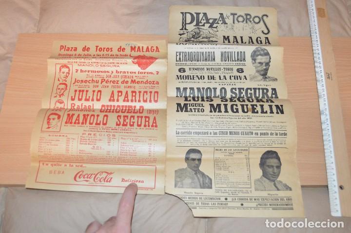 Carteles Toros: GRAN LOTE DE CARTELES DE TOROS - MÁLAGA 1958 - IMPRESIONANTE - MIRA LAS FOTOS - Foto 9 - 75256499