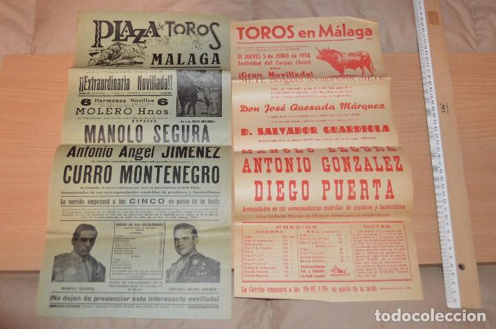 Carteles Toros: GRAN LOTE DE CARTELES DE TOROS - MÁLAGA 1958 - IMPRESIONANTE - MIRA LAS FOTOS - Foto 10 - 75256499