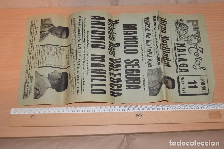 Carteles Toros: GRAN LOTE DE CARTELES DE TOROS - MÁLAGA 1958 - IMPRESIONANTE - MIRA LAS FOTOS - Foto 11 - 75256499
