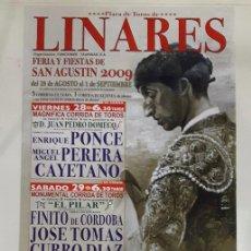 Carteles Toros: CARTEL TOROS LINARES MANOLETE. Lote 75542783