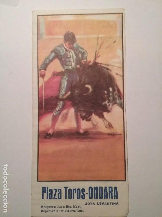 PLAZA DE TOROS ONDARA. LA JOYA LEVANTINA.6 DE JULIO 1969. EL CORDOBES. PALOMO LINARES.PACO PASTOR. (Coleccionismo - Carteles Gran Formato - Carteles Toros)