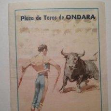Carteles Toros: DIPTICO PLAZA DE TOROS DE ONDARA. LA JOYA LEVANTINA. CORRIDA 10 DE AGOSTO 1969. Lote 76809243