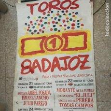 Carteles Toros: CARTEL MURAL PLAZA TOROS FERIA SAN JUAN BADAJOZ 2014. Lote 76859367