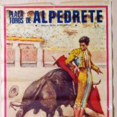 Carteles Toros: CARTEL TOROS PLAZA ALPEDRETE 14 AGOSTO 1985 SAAVEDRA PALOMO LINARES CURRO VÁZQUEZ ESPLÁ ATIENZA. Lote 76971185