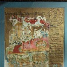 Carteles Toros: CARTEL DE TOROS EN SEDA DE MADRID. ENLACE ALFONSO XIII VICTORIA EUGENIA DE BATTEMBERG. BENLLIURE.. Lote 77424353