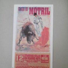 Carteles Toros: CARTEL DE TOROS, NOVILLADA MIXTA. MOTRIL. Lote 78392093
