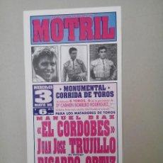 Carteles Toros: CARTEL DE TOROS, MOTRIL-1995. Lote 78392265