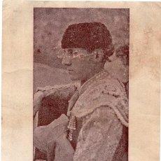 Carteles Toros: MIGUEL BAEZ LITRI, CARTELITO DEDICADO AVALENCIA, MIDE 25X16 . Lote 78834125