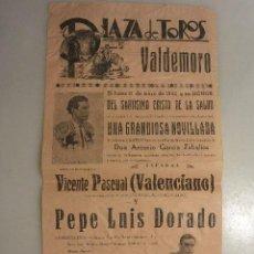 Carteles Toros: CARTEL TOROS PLAZA DE VALDEMORO.1942. Lote 78941077