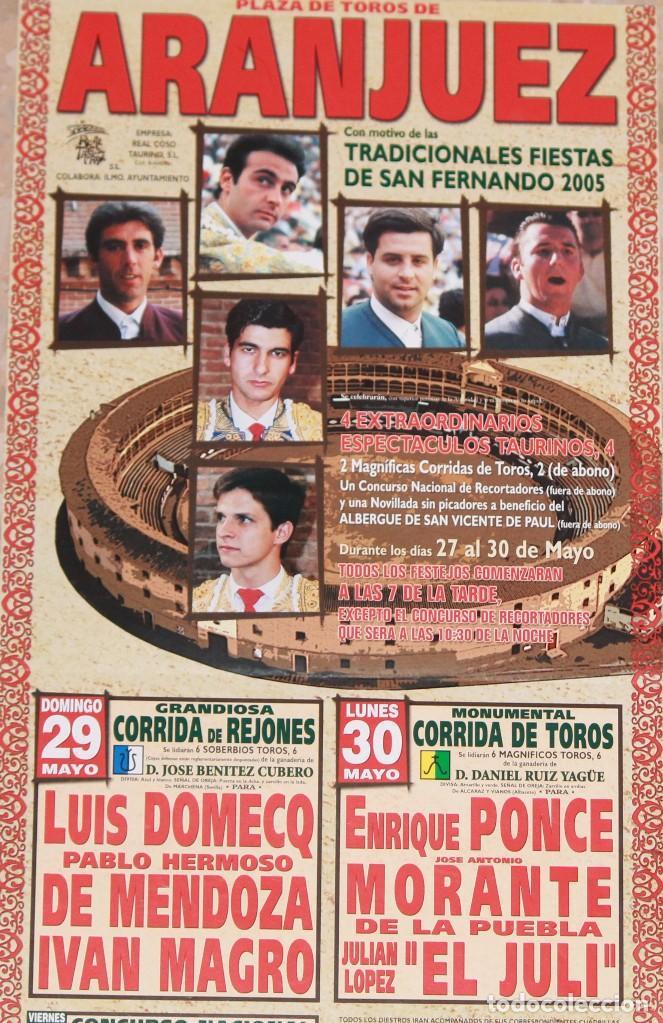 CARTEL TOROS ARANJUEZ 2005 (Coleccionismo - Carteles Gran Formato - Carteles Toros)