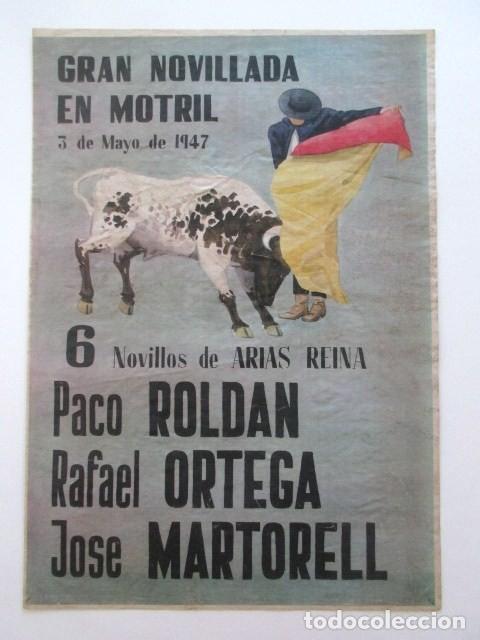 CARTEL PLAZA TOROS DE MOTRIL, AÑO 1947 (Coleccionismo - Carteles Gran Formato - Carteles Toros)