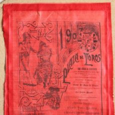 Carteles Toros: CARTEL DE TOROS DE MADRID. BENEFICENCIA. 19 DE MAYO DE 1907. ANTONIO FUENTES, BOMBITA Y MACHAQUITO. Lote 81631016