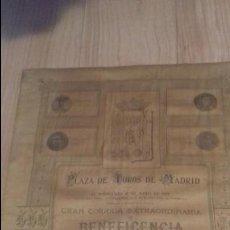 Carteles Toros: CARTEL DE GALLITO.1916. CARTEL DE BENEFICENCIA. GALLITO,GALLO,BELMONTE Y GAONA.. Lote 83137840