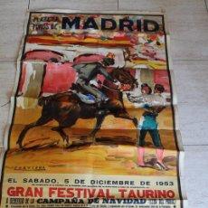 Carteles Toros: CARTEL DE TOROS DE MADRID. 5 DE DICIEMBRE DE 1953. DOMINGO ORTEGA, LUIS MIGUEL DOMINGUÍN, LITRI . Lote 83296780