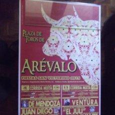 Carteles Toros: TAUROMAQUIA-CARTELES TOROS-AREVALO-AVILA 2015-960X520MM. Lote 84156304