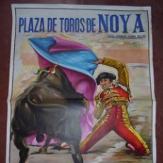 Carteles Toros: CARTEL PLAZA DE TOROS DE NOYA. DISEÑO J. CROS ESTREMS. 1973. 111 X 80 CM.. Lote 84158180