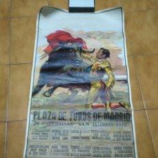 Carteles Toros: CARTEL PLAZA DE TOROS DE MADRID 20 CORRIDAS SAN ISIDRO 1978 104 X 52 CMS. Lote 84174284