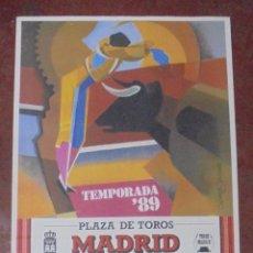 Carteles Toros: CARTEL PLAZA DE TOROS MADRID. TEMPORADA 1989. GRANDIOSA CORRIDA DE TOROS. CORTIJOLIVA. LEER. 92X43CM. Lote 84680764