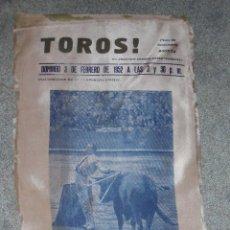 Carteles Toros: CARTEL EN SEDA. PLAZA TOROS SANTAMARIA BOGOTA. 1952. PEPE Y LUIS M. DOMINGIN, A. ORDOÑEZ. 53X22 CM. Lote 85492452