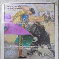 Carteles Toros: CARTEL. TOROS EN POZOBLANCO. REVISTA PRONTO. PAQUIRRI, EL SORO Y YIYO. 74 X 46 CM. Lote 85708024