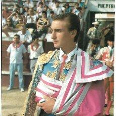 Carteles Toros: FOTO FIRMADA DEL TORERO MANOLO SANCHEZ. Lote 85768460