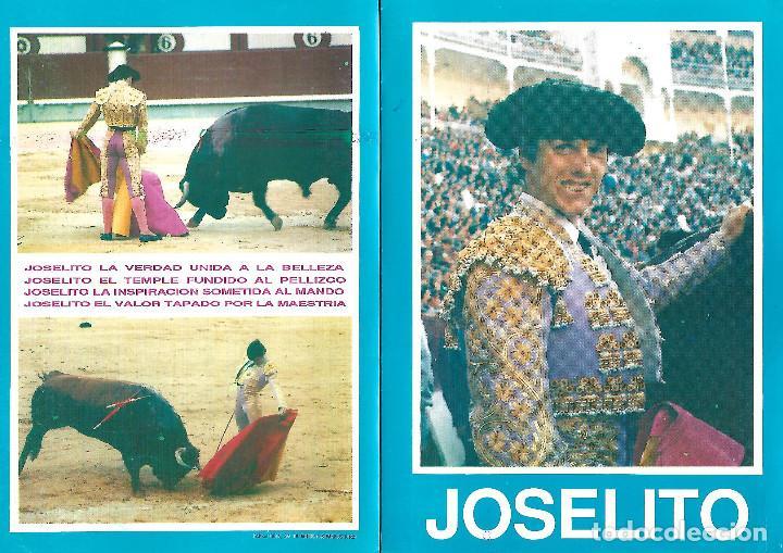 FOTO CON LA FICHA COMPLETA DE JOSELITO (Coleccionismo - Carteles Gran Formato - Carteles Toros)