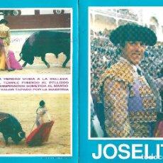 Affissi Tauromachia: FOTO CON LA FICHA COMPLETA DE JOSELITO. Lote 85770404