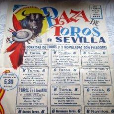 Carteles Toros: CARTEL ORIGINAL TOROS SEVILLA FERIA ABRIL 1959. Lote 163992232