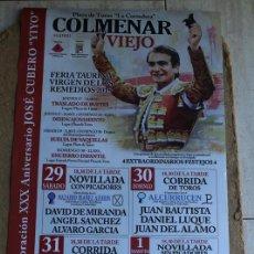 Affissi Tauromachia: CARTEL DE TOROS DE COLMENAR VIEJO. VIRGEN DE LOS REMEDIOS 2015. CASTELLA, PERERA, ETC. Lote 85817704