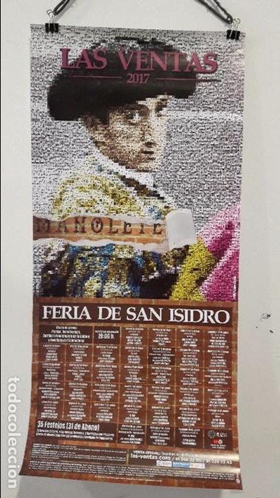 CARTEL TOROS MADRID 2017 HOMENAJE A MANOLETE 70 AÑOS MUERTE 100 DE NACIMIENTO MUY DIFÍCIL DE ENCONTR (Coleccionismo - Carteles Gran Formato - Carteles Toros)