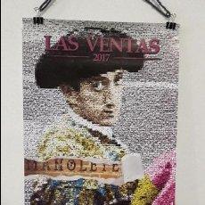 Carteles Toros: CARTEL TOROS MADRID 2017 HOMENAJE A MANOLETE 70 AÑOS MUERTE 100 DE NACIMIENTO MUY DIFÍCIL DE ENCONTR. Lote 92686227