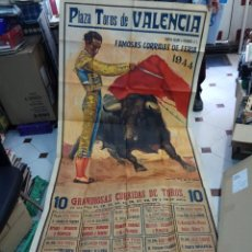 Carteles Toros: CARTEL TOROS, PLAZA DE TOROS VALENCIA 1944, REUS, BELMONTE, BARRERA, MANOLETE, ORIGINAL. Lote 89958654