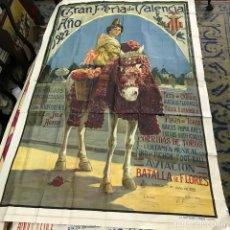 Carteles Toros: GRAN TAMAÑO E IMPORTANTE CARTEL DE TOROS DEL AÑO 1922 EN VALENCIA. Lote 86874180