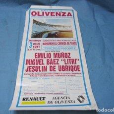 Carteles Toros: CARTEL TOROS PLAZA DE OLIVENZA 3 DE MARZO DE 1991. Lote 87076824