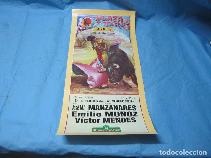 CARTEL TOROS FERIA ABRIL DE SEVILLA 23 ABRIL 1993 (Coleccionismo - Carteles Gran Formato - Carteles Toros)