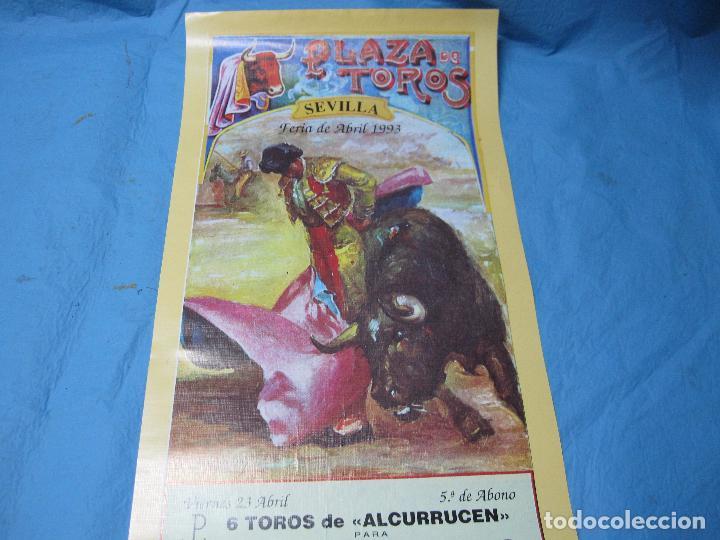 Carteles Toros: CARTEL TOROS FERIA ABRIL DE SEVILLA 23 ABRIL 1993 - Foto 2 - 87077300